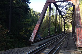 Rusted Bridge In Redding