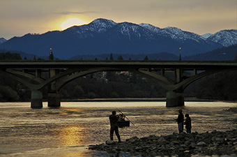 Fishing By The Redding Bridge